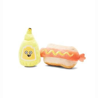BARK Hot Dog and Mustard Dog Toy - Frenchie's Mustard Hot Dog