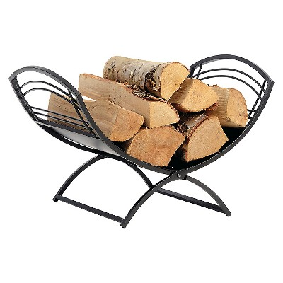 Shelter Logic Classic Fireplace Log Holder - Black