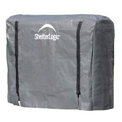 Shelter Logic 4 Foot Firewood Rack Cover - Black