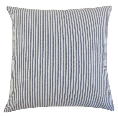 Stripe Throw Pillow Navy (20 x20 )- The Pillow Collection