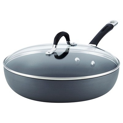 Circulon Momentum 12 Inch Hard-Anodized Non-stick Covered Deep Skillet - Gray