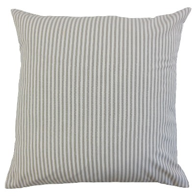 Stripe Throw Pillow Slate (18 x18 )- The Pillow Collection