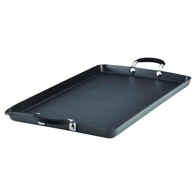 Circulon Momentum 18 x 10 Inch Hard-Anodized Non-stick Double Burner Griddle - Gray