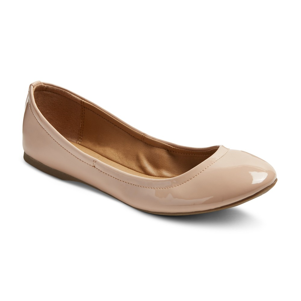 Womens Ona Scrunch Ballet Flats - Mossimo Supply Co. Beige 9.5