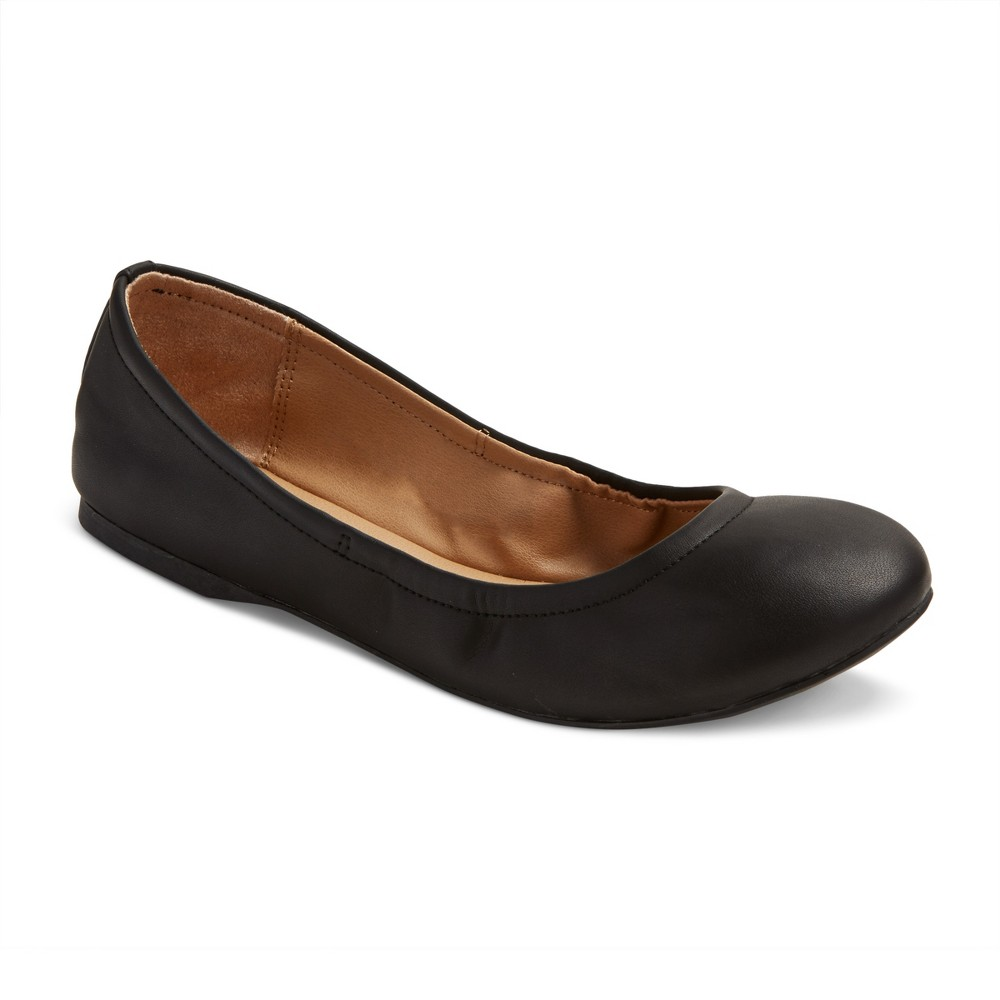 Womens Ona Wide Width Ballet Flats - Mossimo Supply Co. Black 6W, Size: 6 Wide