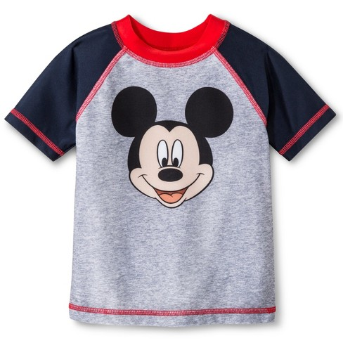 Disney Toddler Boys' Mickey Mouse Rash Guard - Gray - image 1 of 1