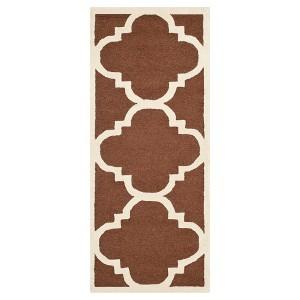 Safavieh Landon Texture Wool Rug - Dark Brown / Ivory (2