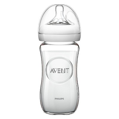 Philips Avent Glass Baby Bottle 8oz Clear