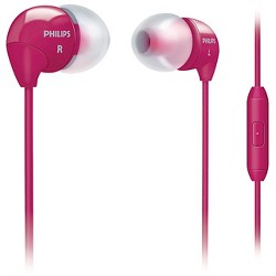 Philips® In-Ear Headphone with Mic Pink