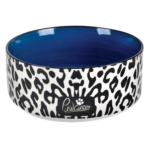 covered pet bowls housewares international 6 pawcasso pet bowl with cheetah design