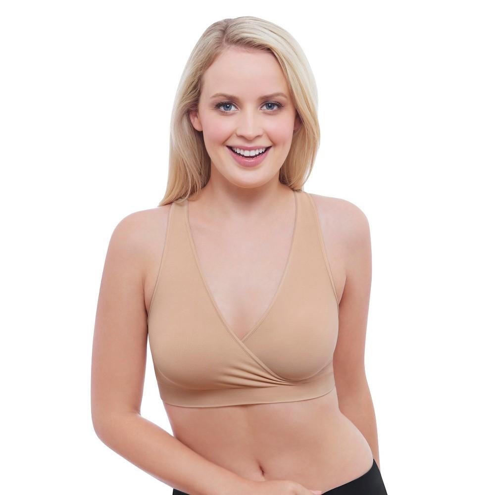 Medela Womens Nursing Sleep Bra Nude L, Beige Nude
