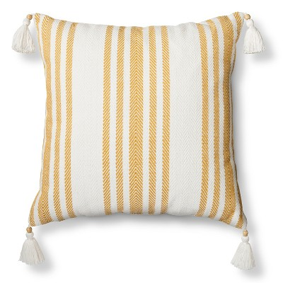Sour Cream Woven Stripe Throw Pillow - Threshold™