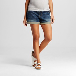 Maternity Inset Under the Belly Jean Shorts - Medium Wash Xxl - Liz Lange for Target, Women