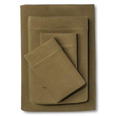 Jersey Sheet Set (Twin)Natural Green - Room Essentials™