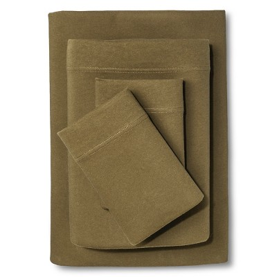 Jersey Sheet Set (King)Natural Green - Room Essentials™