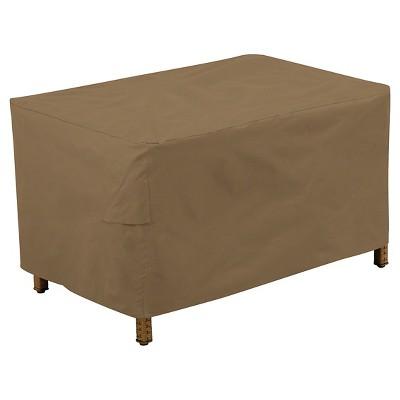 Patio Ottoman U0026 Side Table Cover, Maverick Brown   Threshold™