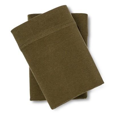 Jersey Pillowcase Set (King)Natural Green - Room Essentials™