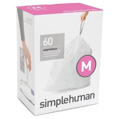 Simplehuman Code M Custom Fit Trash Can Liner, 3 x 20pk (60 Liners)
