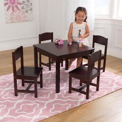 Farmhouse Table 4 Chair Espresso   KidKraft