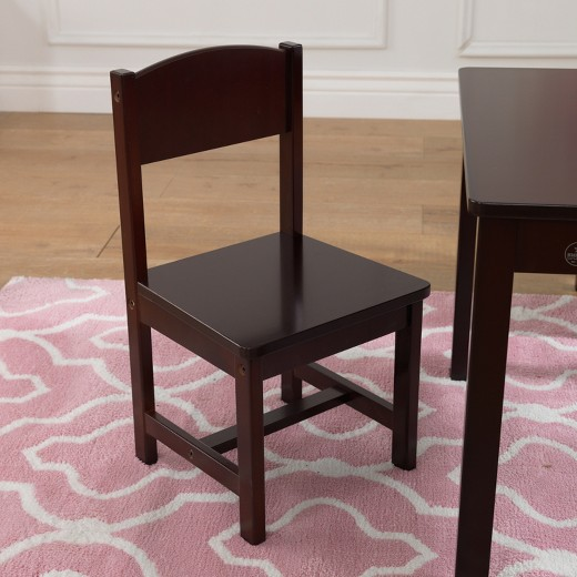 Kids Table And Chairs Set Espresso: Farmhouse Table 4 Chair Espresso