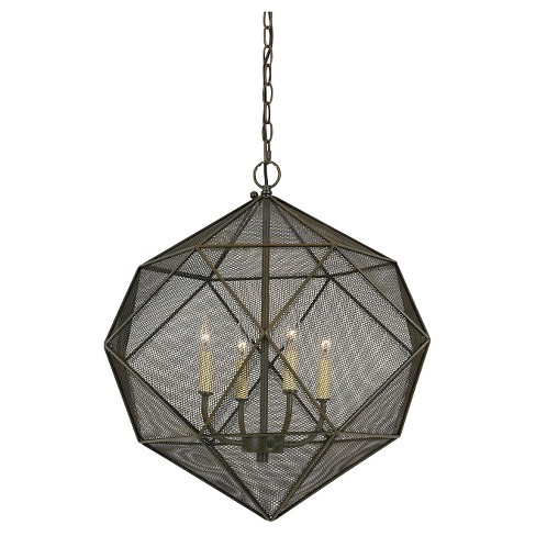 Cal Lighting Sapelo Metal Mesh Chandelier - Wire - image 1 of 1