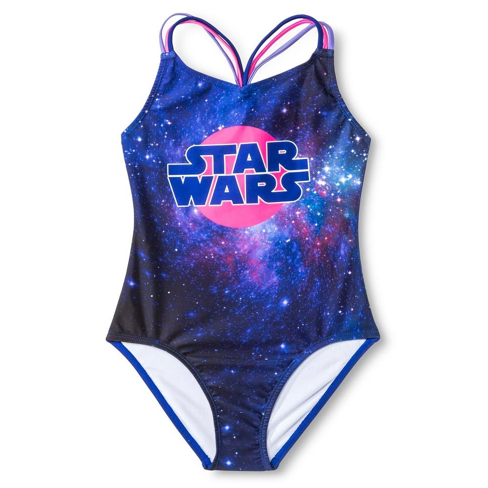Star Wars Girls 1-Piece Swimsuit - Purple XS
