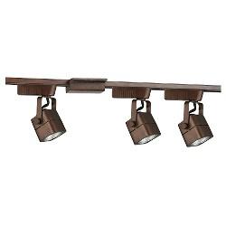 Cal Lighting Track Lighting Set with 3 Track Heads - Rust