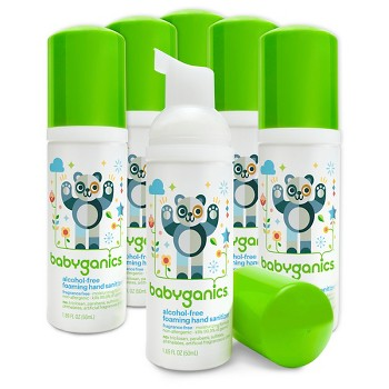 6-Pack Babyganics Foaming Hand Sanitizer