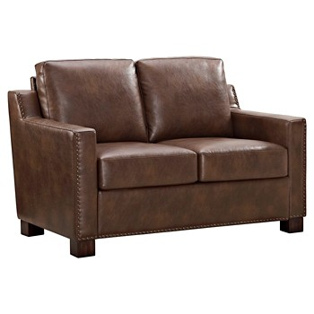 The Industrial Shop Loveseat with Nailheads (Camel)