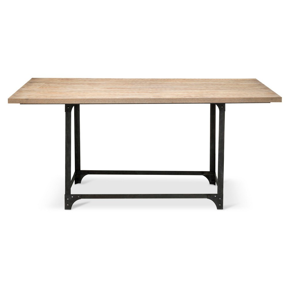 Franklin 66 Dining Table – Weathered Gray – The Industrial Shop