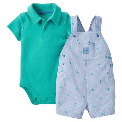 Just One You™ Made by Carter's® Baby Boys' Shortall - Blue/Green NB