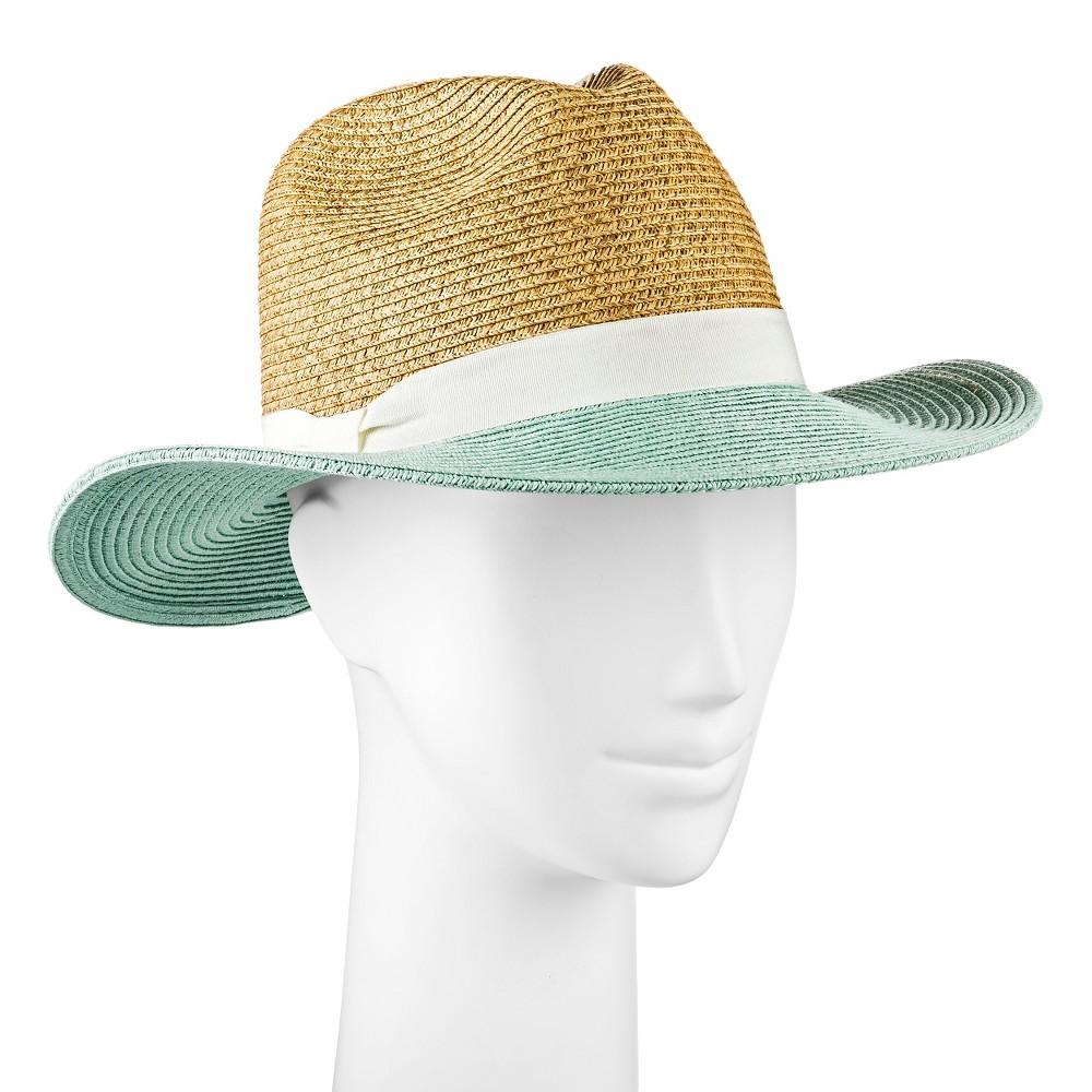 Womens Panama Hat Mint Color Block - Merona, Mint Green