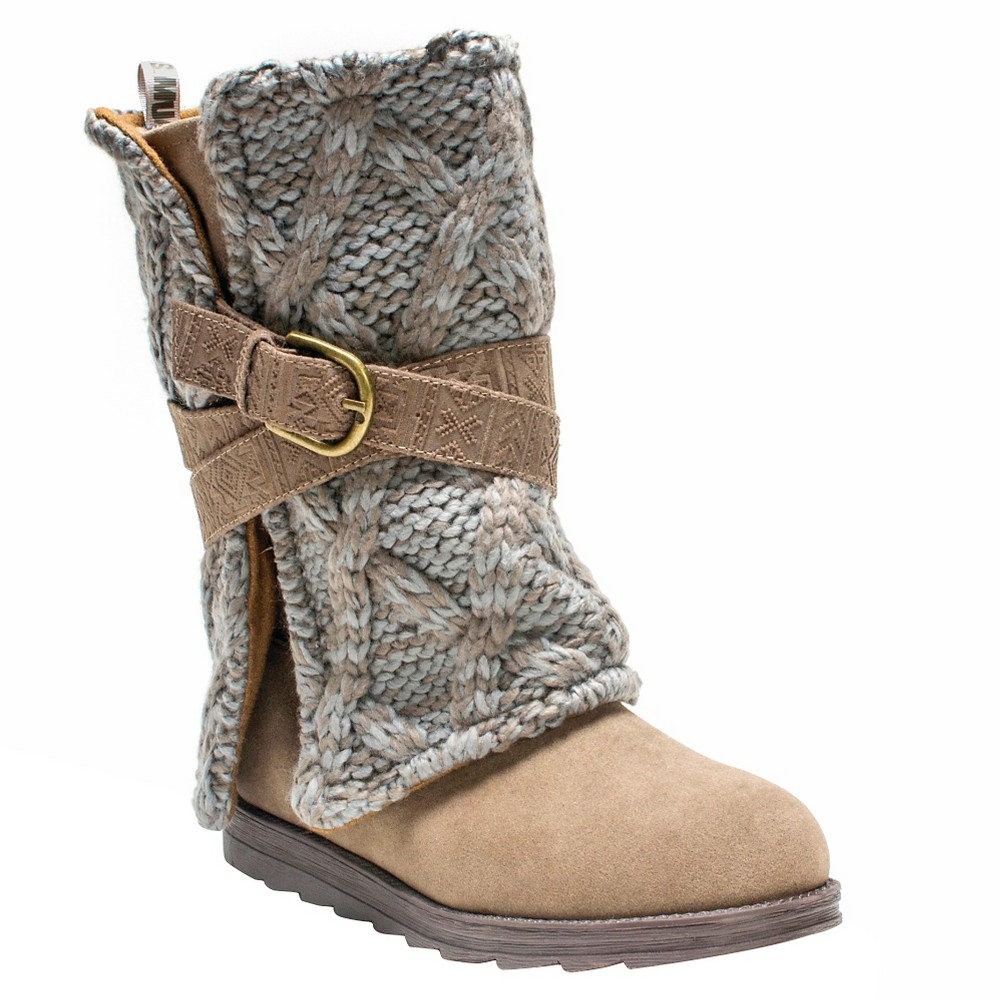 Womens Muk Luks Nikki Boots - Taupe (Brown) 6