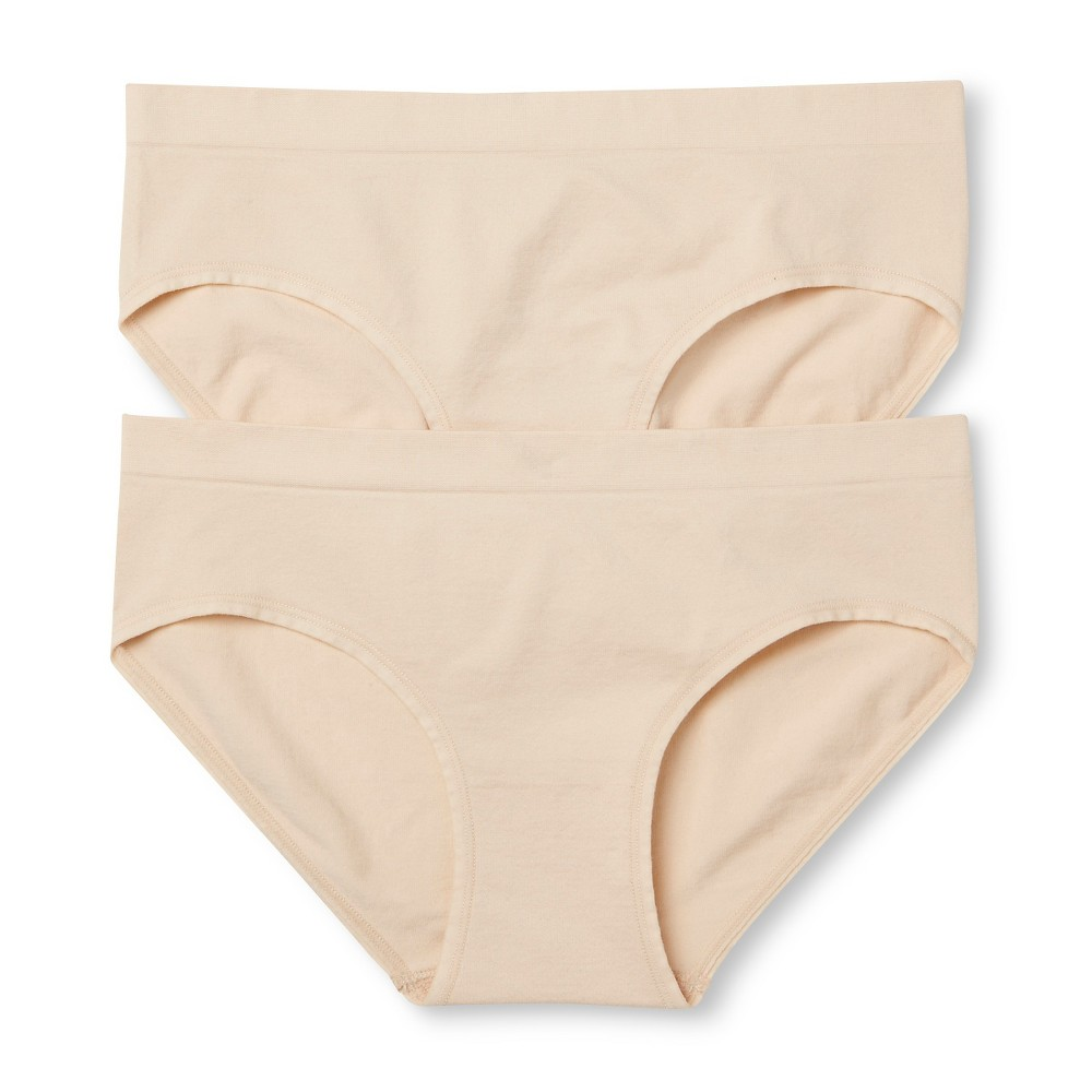 Womens 2-Pack Seamless Hipster Mochaccino S