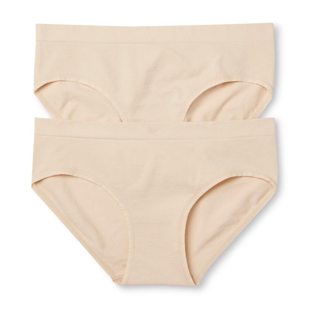 Womens 2-Pack Seamless Hipster Mochaccino XL