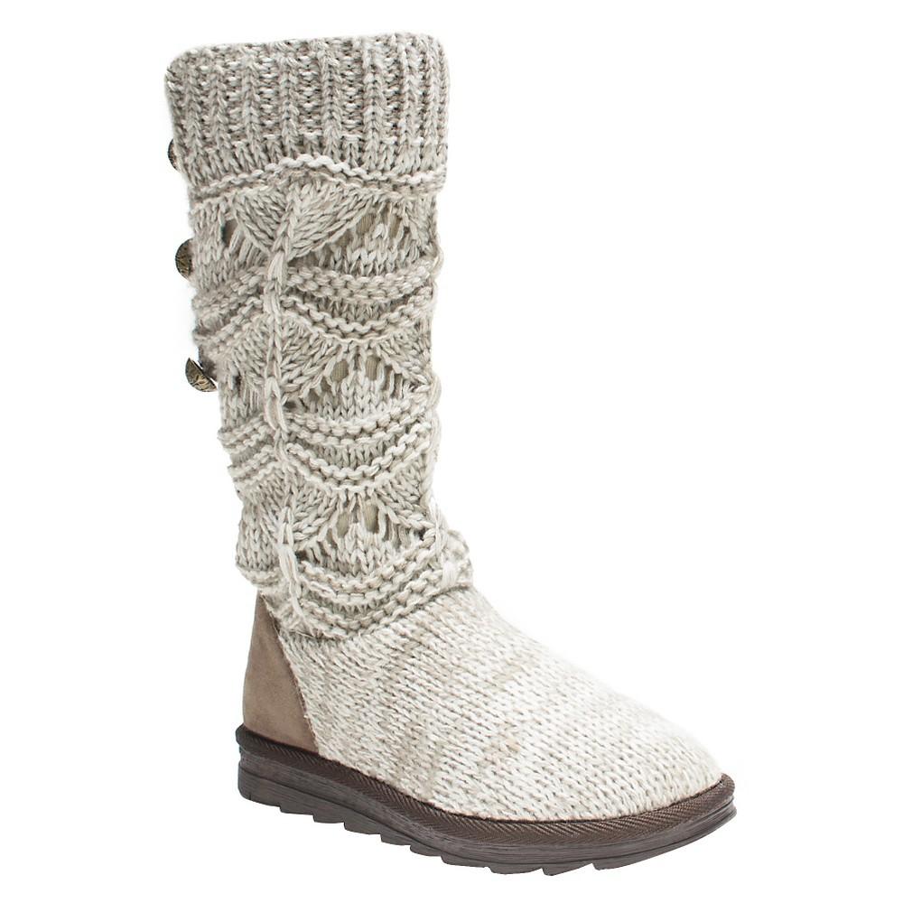 Womens Muk Luks Jamie Boots - Natural 6, Beige