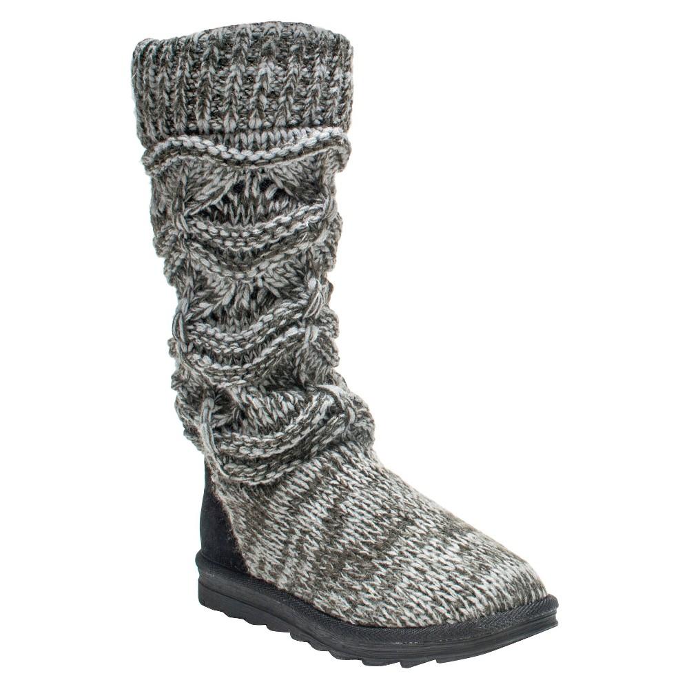 Womens Muk Luks Jamie Boots - Gray 9