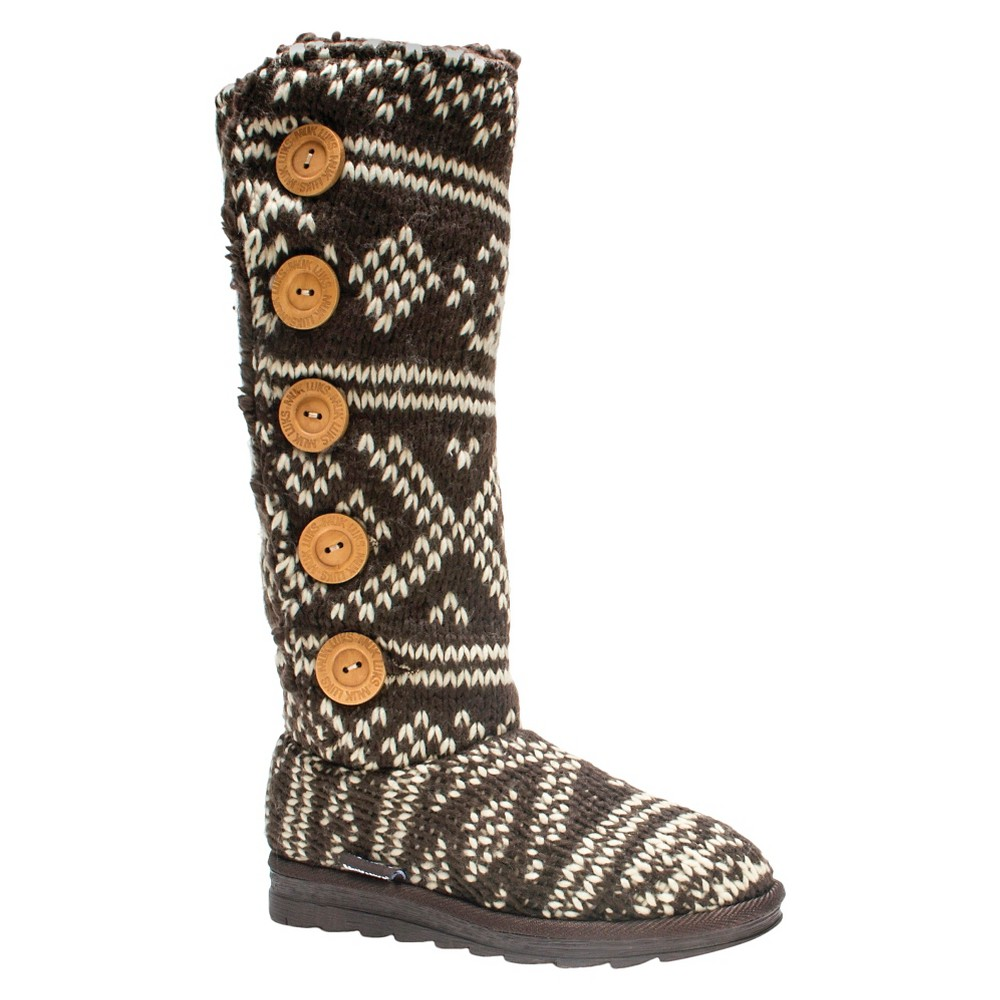 Womens Muk Luks Malena Shearling Boots - Brown 9