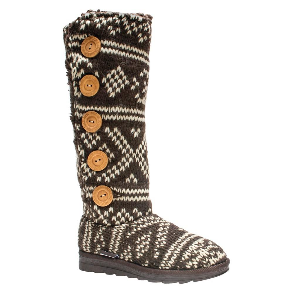 Womens Muk Luks Malena Shearling Boots - Brown 10