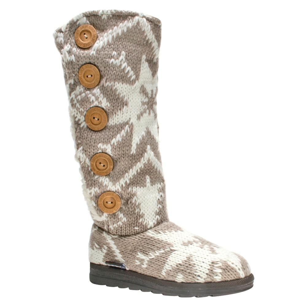 Womens Muk Luks Malena Shearling Boots - Tan 7
