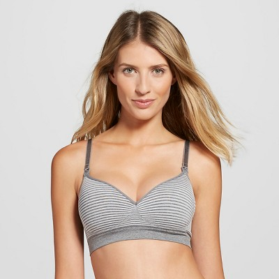 Women's Nursing Seamless Bra Gray Space L - Gilligan & O'Malley™