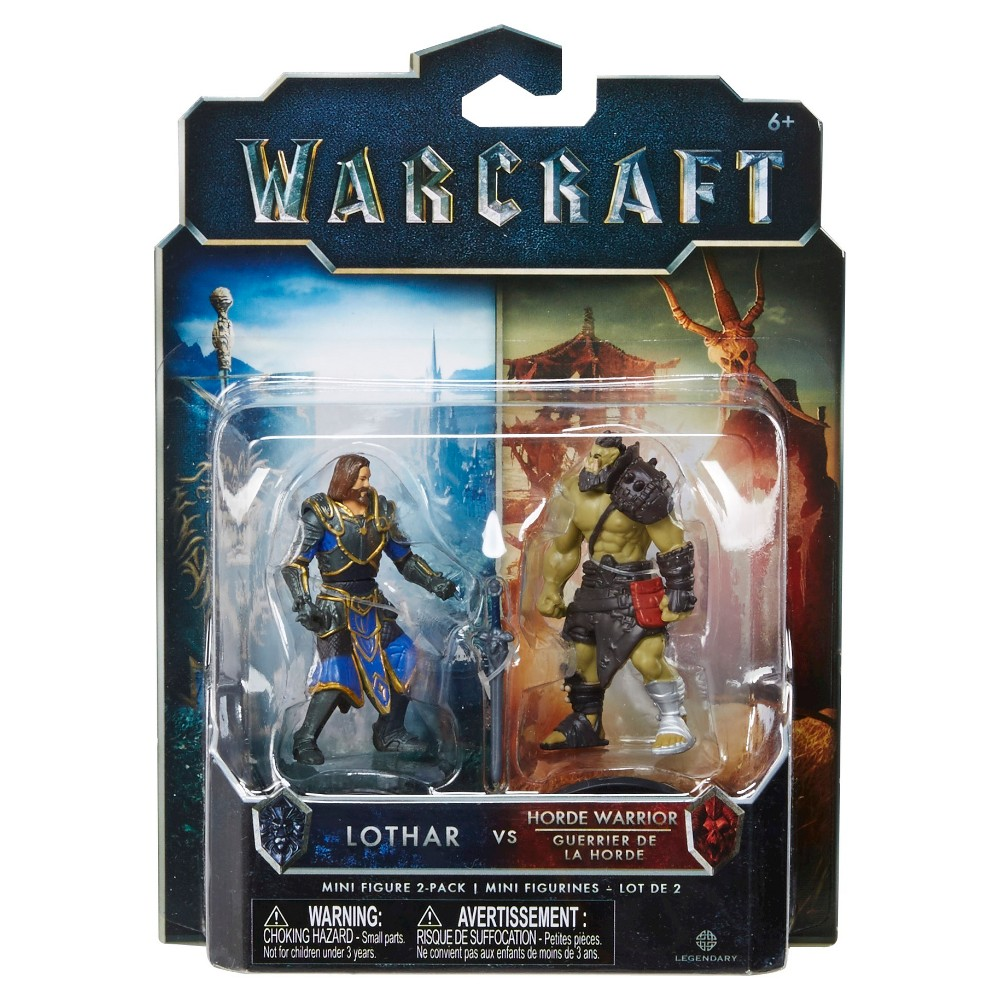 World of Warcraft Lothar vs Horde Warrior Mini Figure 2-Pack