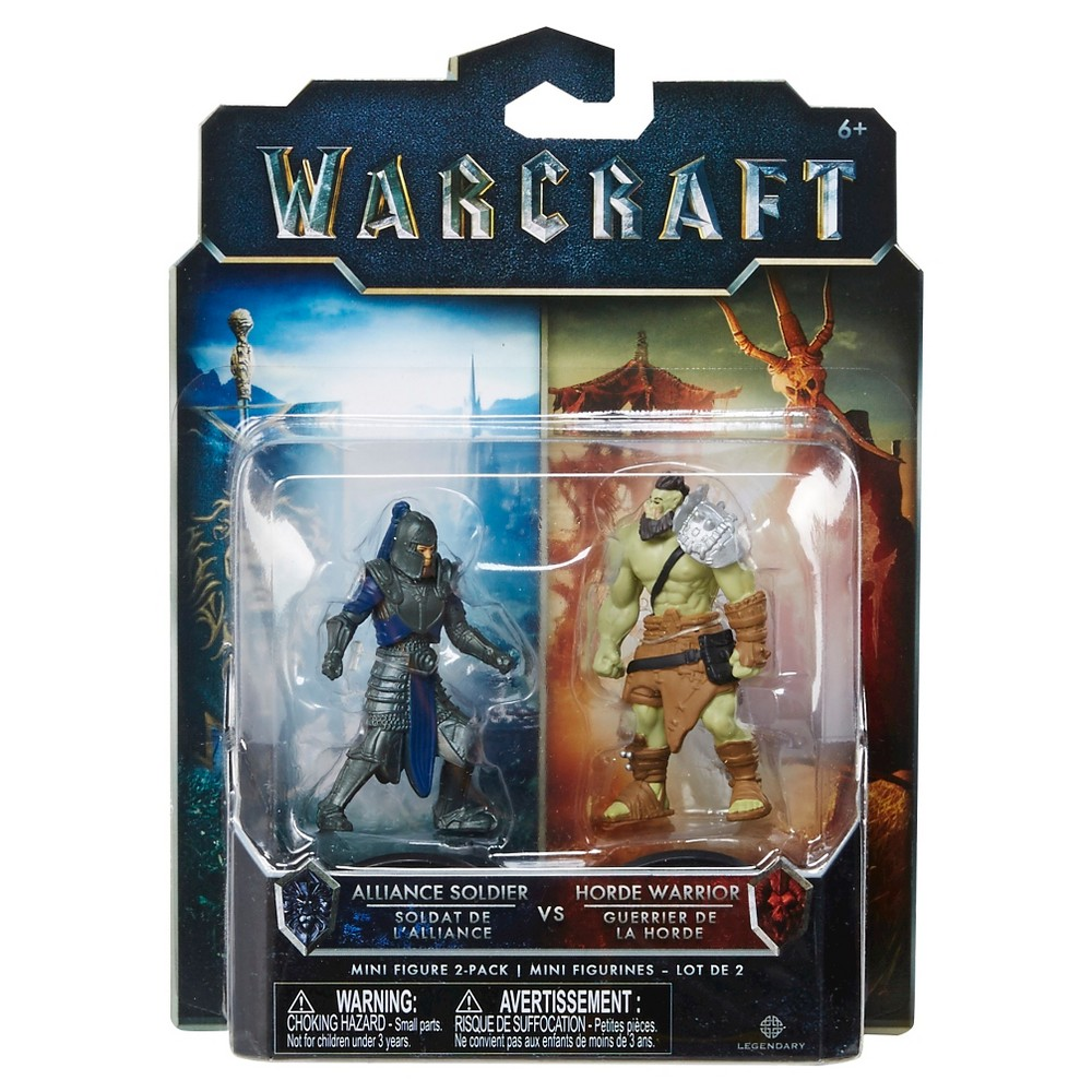 World of Warcraft Alliance Soldier vs Horde Warrior Mini Figure 2-Pack