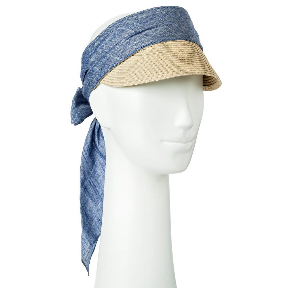 Womens Straw Visor Blue - Merona