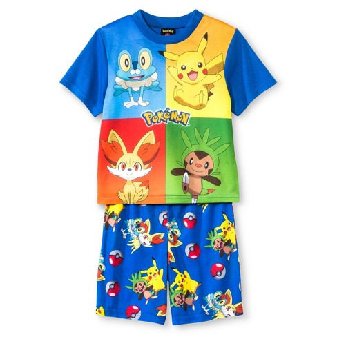 Boys' Pokémon 2pc Pajama Set - Blue Multicolored - image 1 of 1