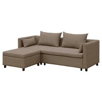 Cromwell Convertible Sofa with Ottoman Taupe (Threshold)