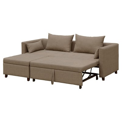 cromwell convertible sofa with ottoman taupe threshold