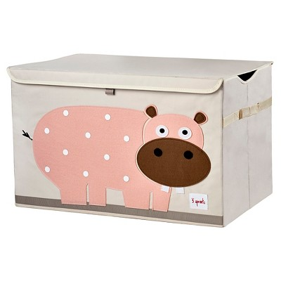 3 Sprouts Collapsible Storage Toy Chest - Hippo