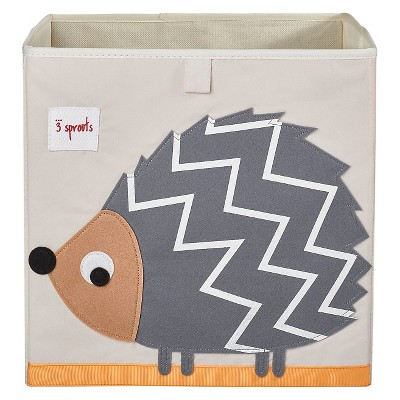 3 Sprouts Fabric Cube Storage Bin - Hedgehog