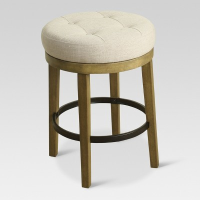 Calvert Tufted Swivel 24  Counter Stool Wood - Threshold™  sc 1 st  Target : 24 stools swivel - islam-shia.org